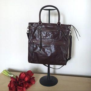 Halogen satchel genuine leather